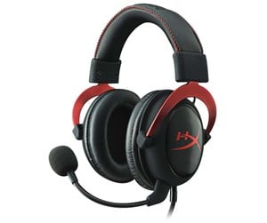 KHX-HSCP-RD - Kingston HyperX Cloud II Headset - Red - Svart