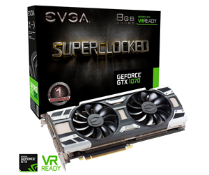 08G-P4-6173-KR - EVGA GeForce GTX 1070 SC GAMING ACX 3.0 - 8GB GDDR5 RAM - Grafikkort