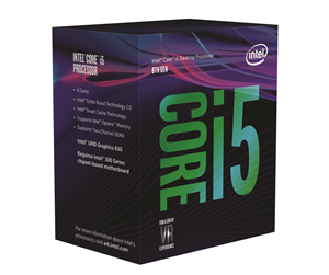 BX80684I58400 - Intel Core i5-8400 Coffee Lake CPU - 6 kärnor 2,8 GHz - Intel LGA1151 - Intel Boxed