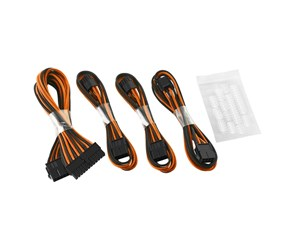 CM-CAB-BKIT-D62KKO-R - CableMod Basic ModFlex Extension Kit - Black/Orange