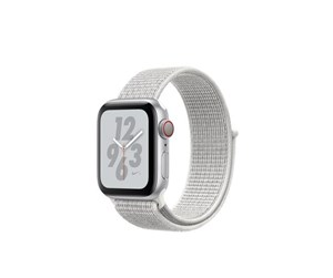 MTXF2KS/A - Apple Watch Nike+ Series 4 (GPS + Cellular) 40mm - Silver Alu with White Nike Sport Loop Band