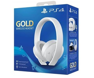 9737612 - Sony PS4 New Official Gold Wireless Headset 7.1 White - Headset - Sony Playstation 4