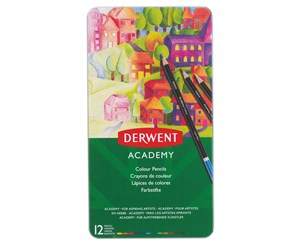 2301937 - Derwent Academy Pencil Colouring Tin/12