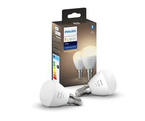 929002440602 - Philips Hue White E14 Luster P45 Ljuskällan - BT - 2-Pack