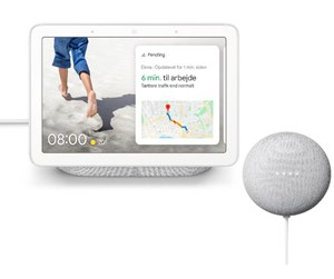 HUB+MINICHALK - Google Nest Hub incl. Nest Mini - Chalk (Nordic)