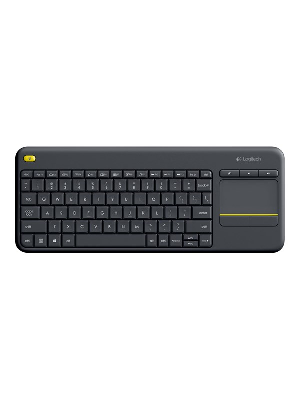 Logitech Wireless Touch Keyboard K400 Plus - Tangentbord - Svart