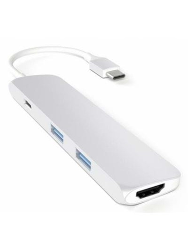 Satechi Slim USB-C MultiPort Adapter with 4K HDMI - Silver