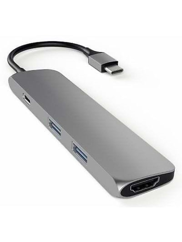 Satechi Slim USB-C MultiPort Adapter with 4K HDMI - Space Grey