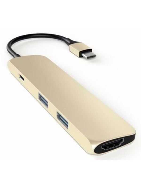 Satechi Slim USB-C MultiPort Adapter with 4K HDMI - Gold