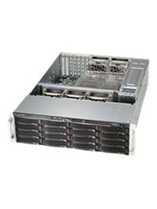 Supermicro SC836 BE2C-R1K03B - Chassi - Server (Rack) - Svart