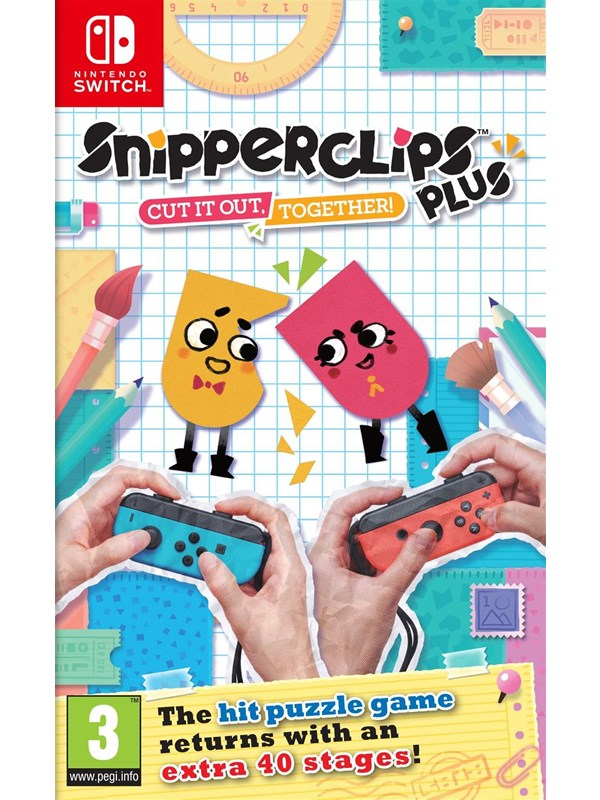 Snipperclips Plus: Cut it out together! - Nintendo Switch - Pussel