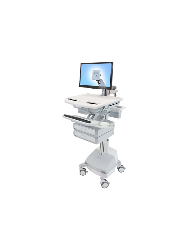 Ergotron StyleView Cart with LCD Arm SLA Powered 2 Drawers