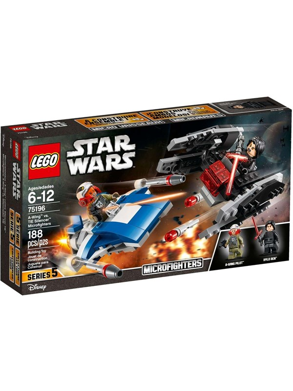 LEGO Star Wars 75196 75196 A-Wing™ vs. TIE Silencer™ Microfighters