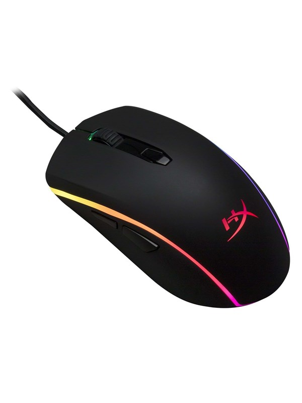 Kingston HyperX Pulsefire Surge RGB - Gamingmus - Optic - 6 knappar - Svart