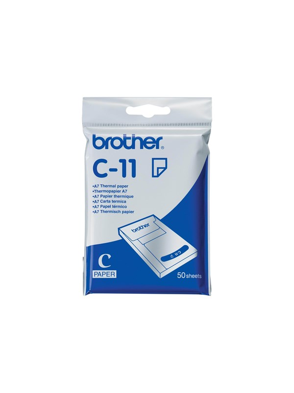 Brother - thermal paper - 50 sheets - A7